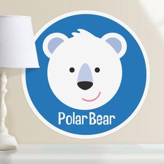 Baby Animals Polar Bear Personalized Kids Wall Dotz Decal