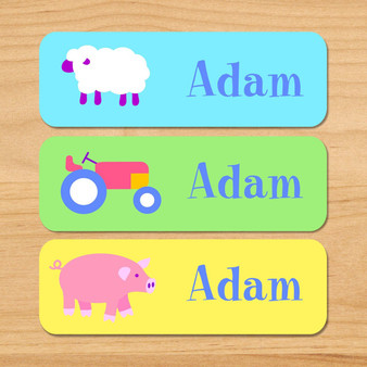 Country Baby Personalized Rectangle Kids Waterproof Labels