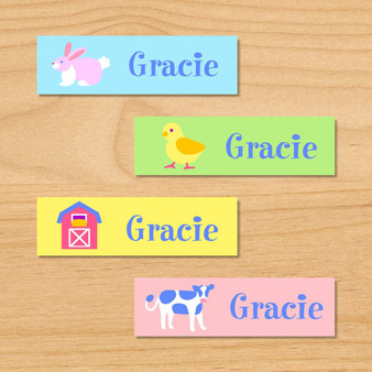 Country Baby Personalized Mini Kids Waterproof Labels