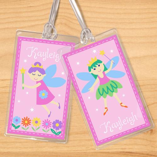 Fairy Princess (Light Skin) Personalized Kids Name Tag Set of 2