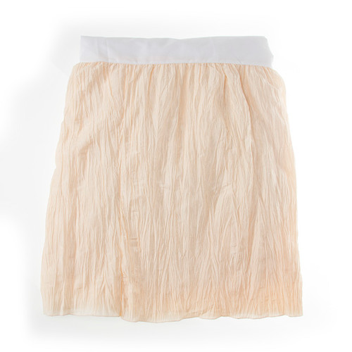 "Anastasia Cream Collection Twin Skirt (Ivory Crinkle) 22"" Drop"