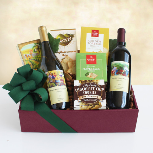 Tasting and Toasting Gourmet and Wine Gift Box