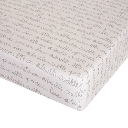 All My Love Fitted Mini Crib Sheet by Glenna Jean