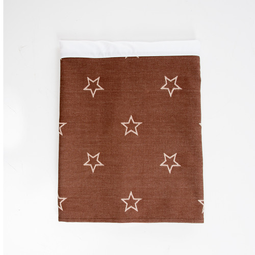 "Carson Collection Full Bed Skirt (Brown Star) 16"" Drop"
