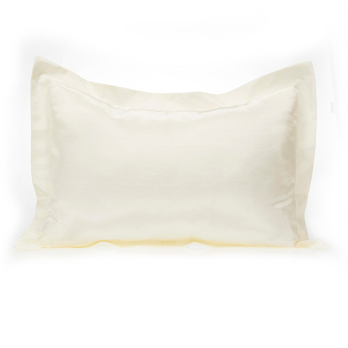 Lil' Princess Collection Large Pillow Sham (Solid Ivory Cream)