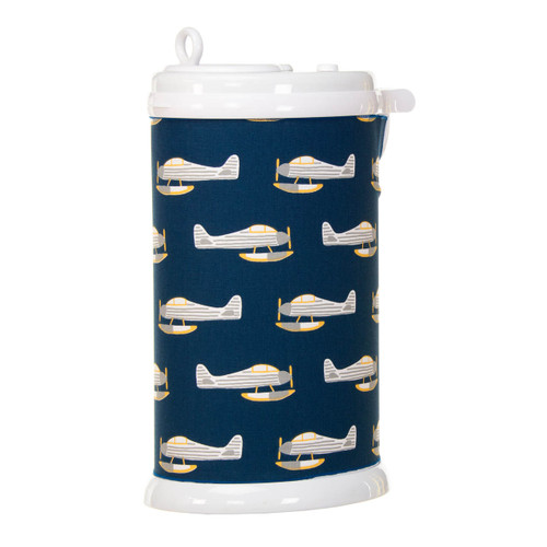 First Flight Collection Ubbi Diaper Pail Cover (Airplane Print)