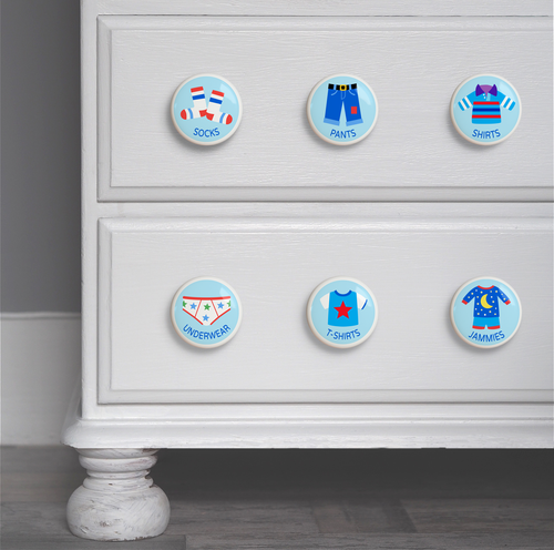 Dresserz Boy's Drawer Knob Assortment - Set of 6