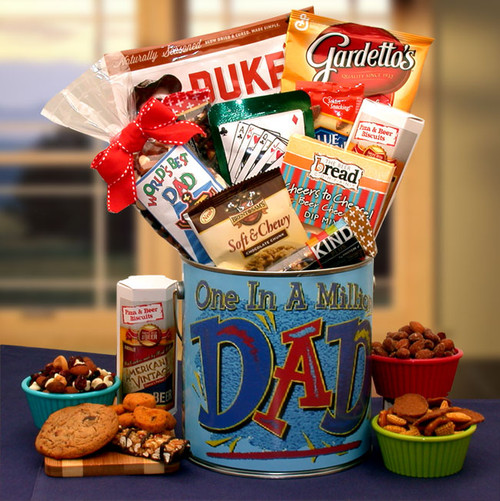 You're One In A Million Dad Premium Snacks & Nuts Father's Day Gift Pail