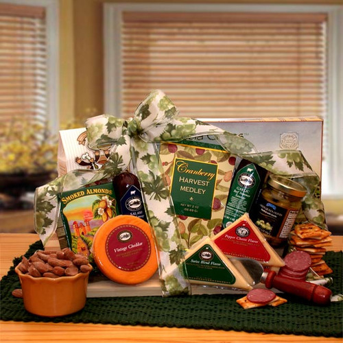 Tastes Of Distinction! Cheese and Sausage Gift Arrangement