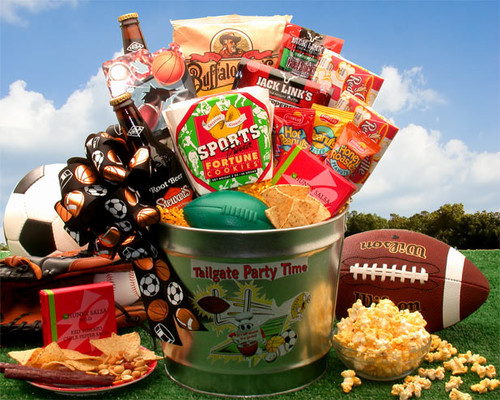 Tailgate Party Time Sports Themed Gift Pail for Any Occasion