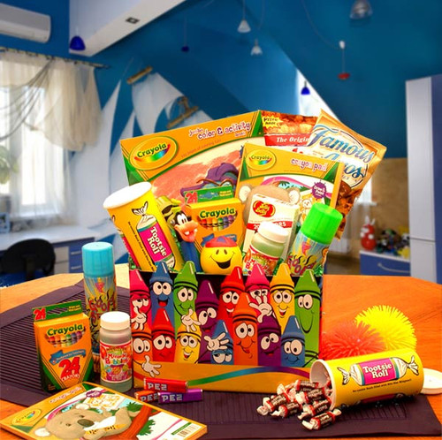 Crazy Crayola Kids Activity Gift Box for Boys or Girls