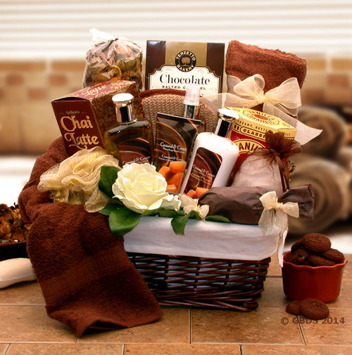 Caramel Indulgence Spa Relaxation Hamper Gift Basket