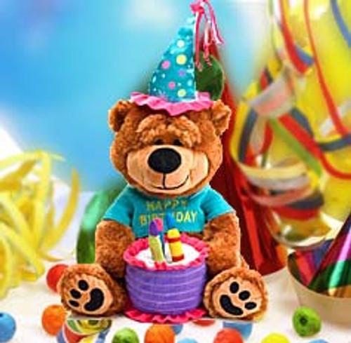 "Brownie The Happy Birthday Plush Bear 15"" Stuffed Animal Toy"