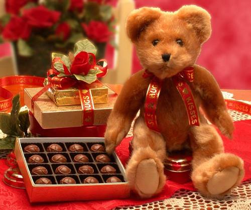Hugs & Kisses Bear Plush Animal Toy with Chocolates Gift Set