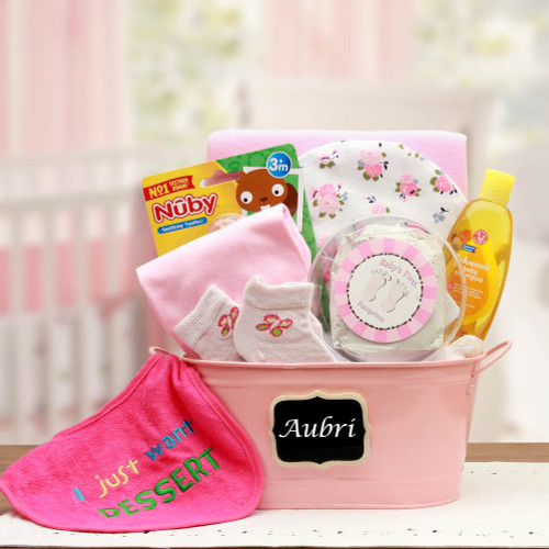 Baby Basics Gift Pail - Pink for Girls