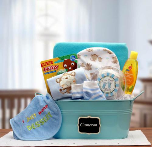 Baby Basics Gift Pail - Blue for Boys