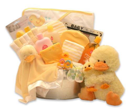 Bath Time Baby Gift Set with Tub in Choice of Colors - Large