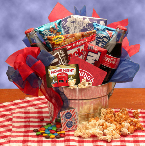 Blockbuster Movie Night Snack Pail - with 10.00 Redbox Gift Card