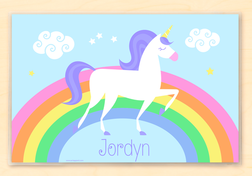 Unicorn Personalized Placemat Kids Placemat