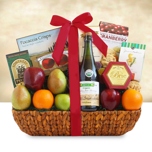Share The Health Deluxe Fresh Fruit and Gourmet Gift Basket