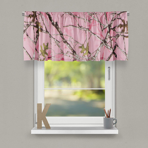 """Camo Baby Pink Collection Window Valance (Approximately 54""""x23"""")"""