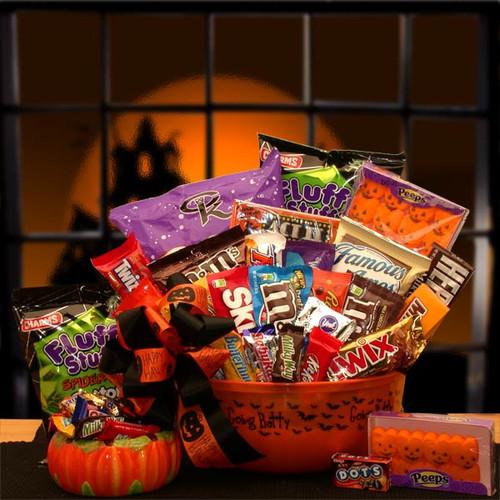 No Tricks Just Treats Halloween Goodie Bucket Gift