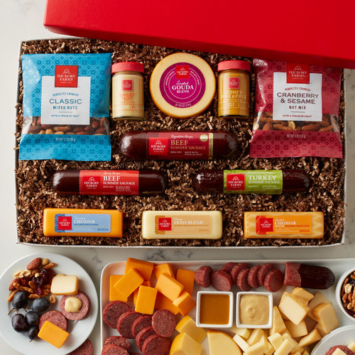 Celebration Selection Sausage and Cheese Gift Box by Hickory Farms