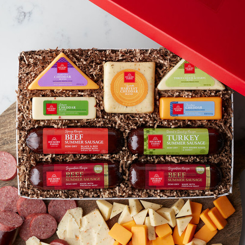 Party Time with Hickory Farms Cheese and Sausage Gift Box