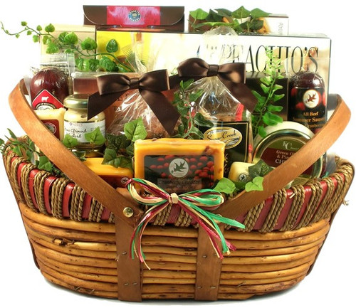 The Midwesterner, Cheese And Sausage Gift Basket (Large)