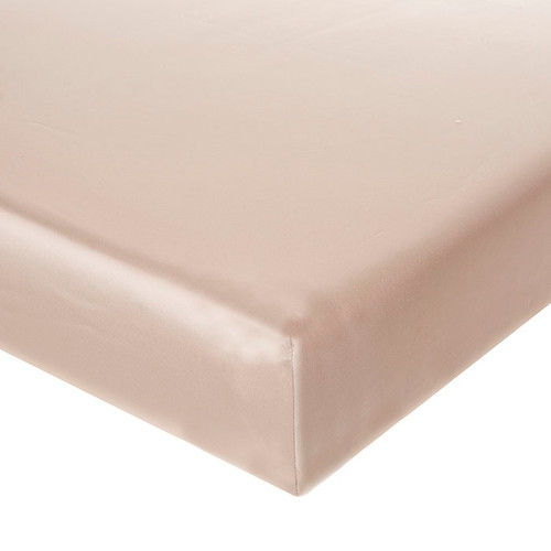 Angelica Collection Fitted Crib Sheet (Solid Champagne Beige)