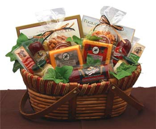 Savory Favorites Meat and Cheese Gift Basket for Any Occasion