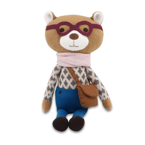 Charlie the Bear Knit Plush Stuffed Toy