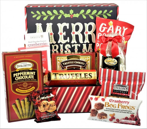 Christmas Care Package, Designer Holiday Gift Box