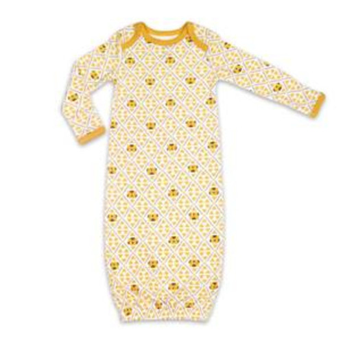 The Peanutshell Baby Girl or Boy Sleep Gown, Tiger Print, One Size