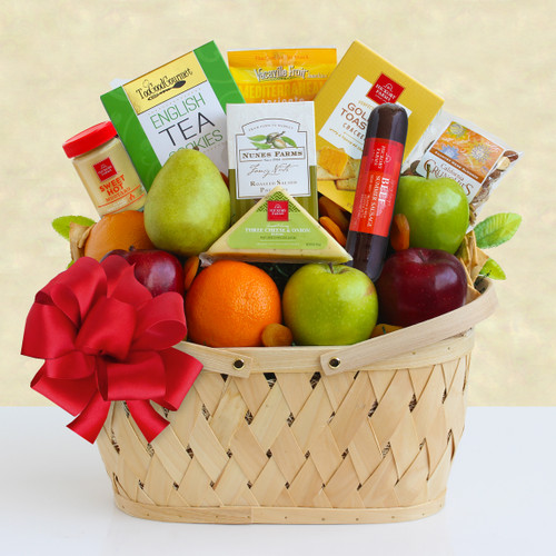 Holiday Fruit Greetings! Fresh Fruit and Gourmet Gift Basket
