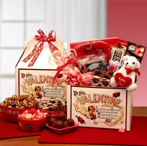 Love Notes To My Valentine Care Package Gift Box
