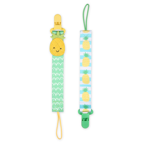 Pineapple 2 Pack Smart Clip Pacifier Tether / Strap