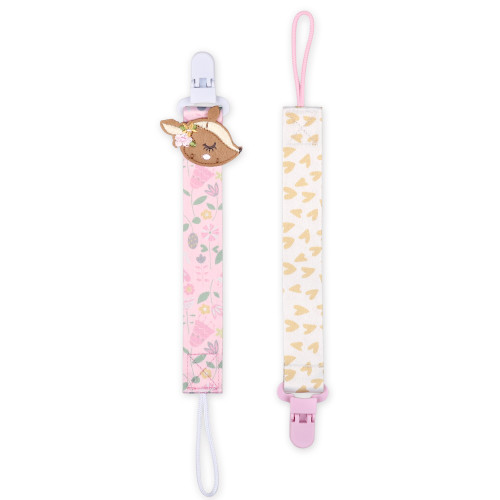 Deer 2 Pack Smart Clip Pacifier Tether / Strap