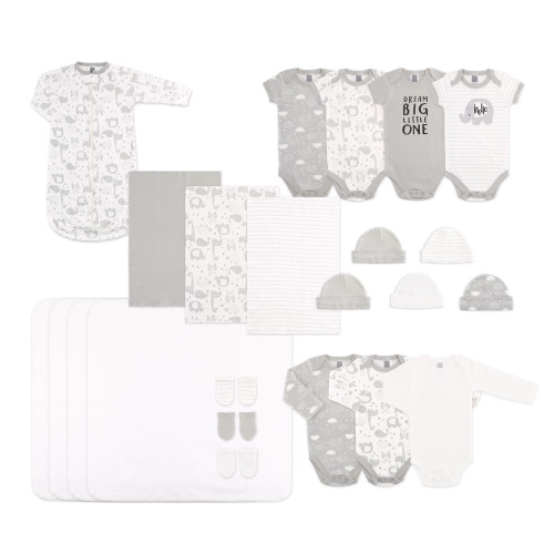 The Peanut Shell Gender Neutral 23 Piece Layette Set - Grey