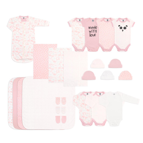 The Peanut Shell Baby Girl's 23 Piece Layette Set - Pink