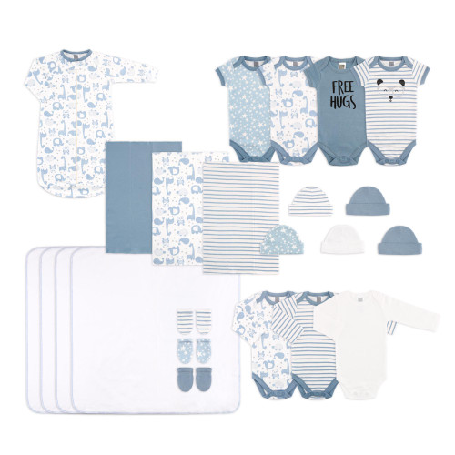 The Peanut Shell Baby Boy's 23 Piece Layette Set - Blue