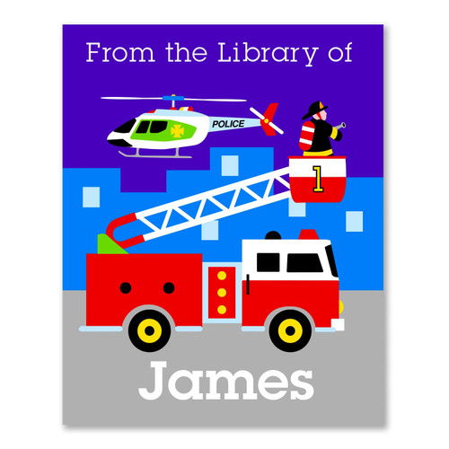 Heroes Personalized Kid's Bookplates - Set of 12