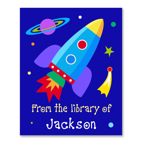 Outer Space Personalized Kid's Bookplates - Set of 12