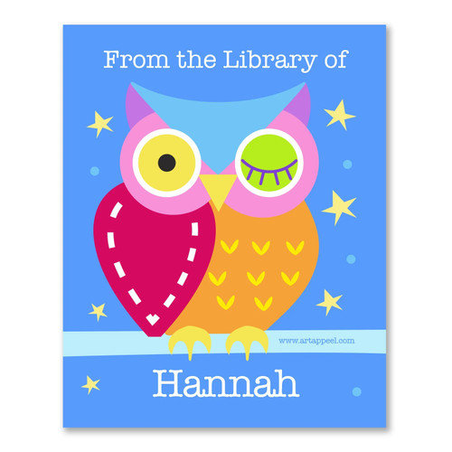 Owls Hoot Personalized Kid's Bookplates - Set of 12