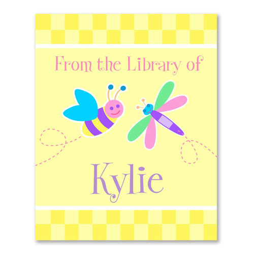 Flower Land Personalized Kid's Bookplates - Set of 12