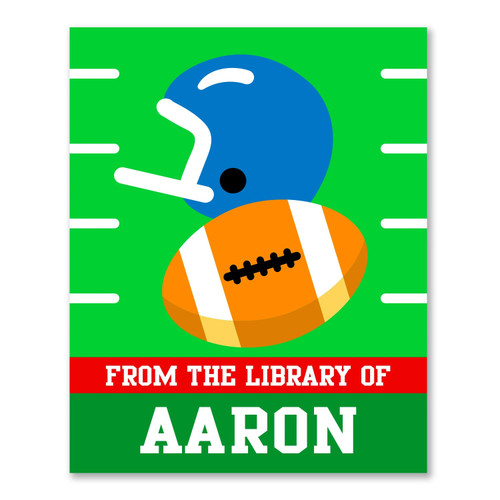 Football Personalized Kid's Bookplates - Set of 12