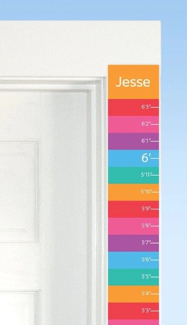 Lush Personalized Decal Growth Strip
