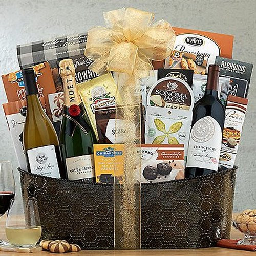 All Star Wine & Champagne Trio: Premium Gourmet Basket