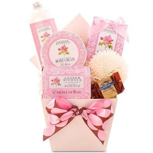 Pamper Her: Tea Rose Spa Gift Basket