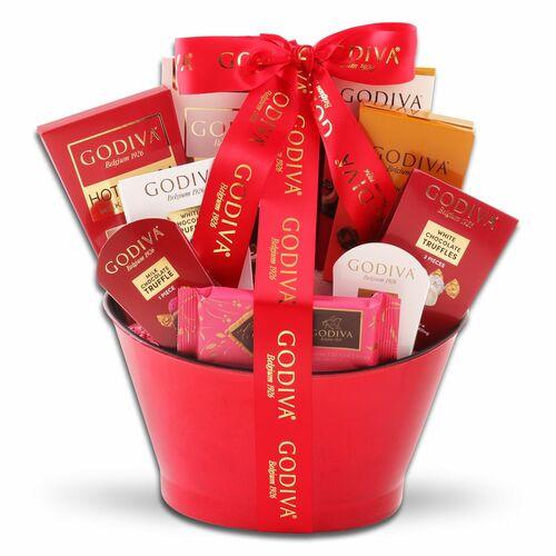 Godiva Splendor: Valentine's Day Chocolate Basket